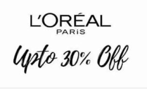 Get 30% percent discount on Loreal Paris Products on Nykaa