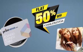 Get Flat 50% discount on all orders at Printvenue