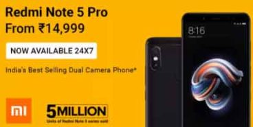 Redmi Note 5 Pro mobile offer available 24X7