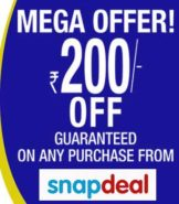Get FLAT 200 off on all orders at Snapdeal (Limited period offer Snapdeal coupon)