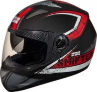 Studds Shifter Dashing Stylish Cool Black with Red ISI Certified Helmet Motorbike Helmet at Rs.1850 only