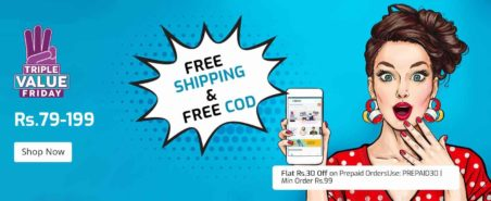 Triple Value Sale of Shopclues is Live now – All orders will be FREE COD and Free Shipping