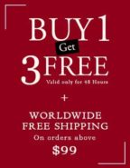 Buy 1 and Get 3 Offer is live now at Nine Colours