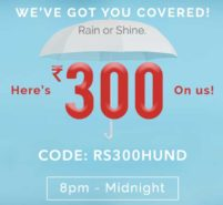 Get flat 300 off coupon of Myntra