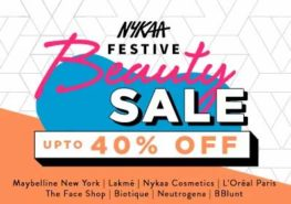 Nykaa festive beauty sale – get 40 percent discount