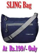 Buy Sling Bag For Unisex Blue and Stylish at Rs.199
