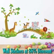 Buy Wall Stickers at up-to 86 percent discount on Flipkart
