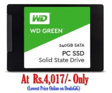 WD Green 240 GB Solid State Drive for Desktop and Laptop at Rs.4017